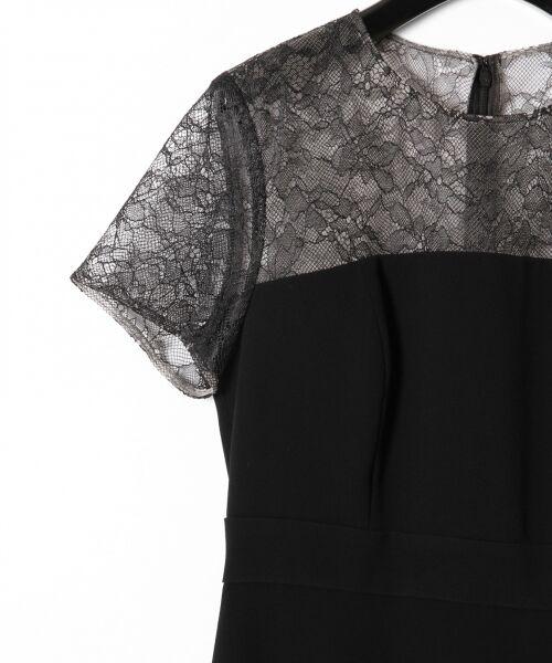 GRACE CONTINENTAL / グレースコンチネンタル ドレス | レースプリーツ切替ワンピース | 詳細15