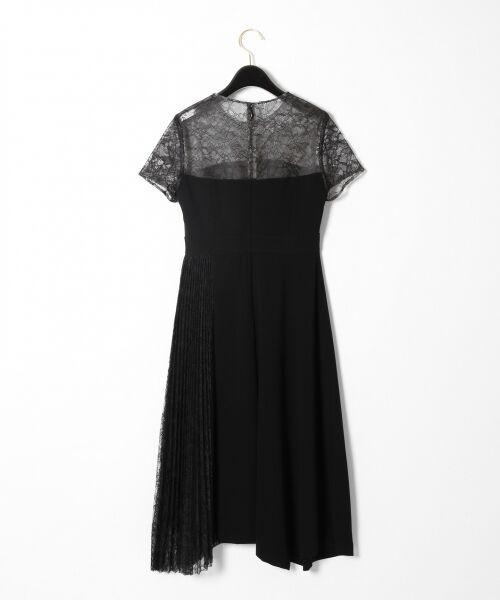 GRACE CONTINENTAL / グレースコンチネンタル ドレス | レースプリーツ切替ワンピース | 詳細18