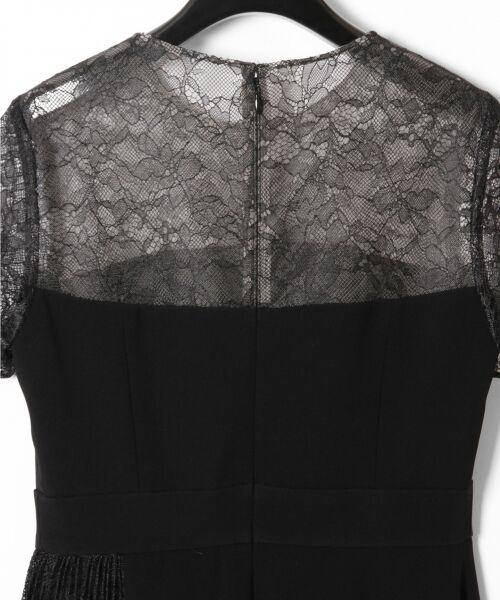 GRACE CONTINENTAL / グレースコンチネンタル ドレス | レースプリーツ切替ワンピース | 詳細19