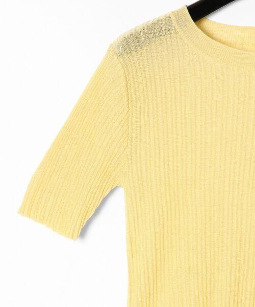 GRACE CONTINENTAL / グレースコンチネンタル ニット・セーター | シアーリブニットトップ | 詳細15