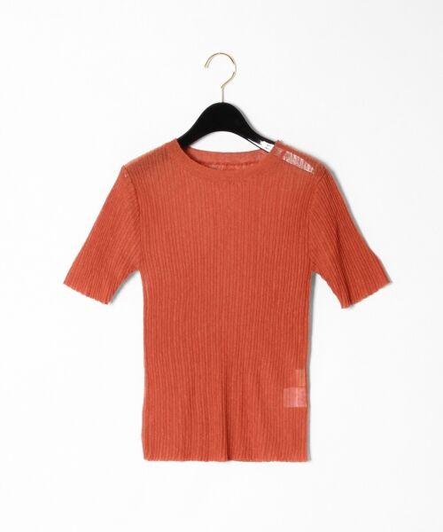GRACE CONTINENTAL / グレースコンチネンタル ニット・セーター | シアーリブニットトップ(レンガ)