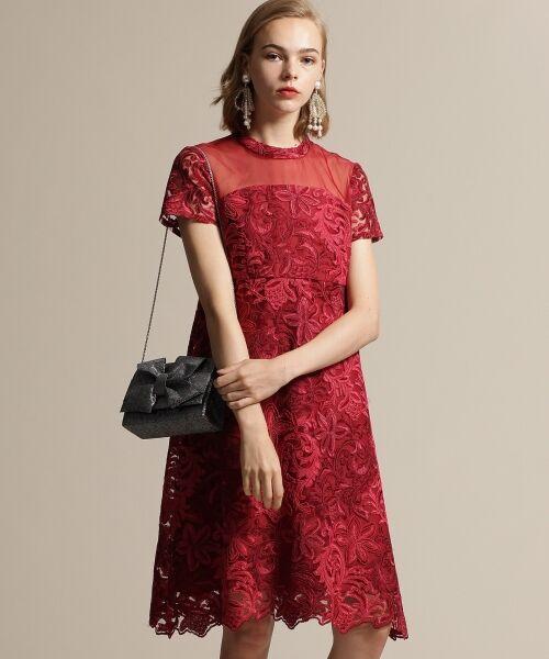 GRACE CONTINENTAL / グレースコンチネンタル ドレス | チュール刺繍フレアワンピース | 詳細1