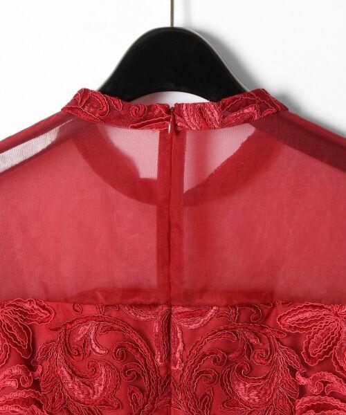 GRACE CONTINENTAL / グレースコンチネンタル ドレス | チュール刺繍フレアワンピース | 詳細10