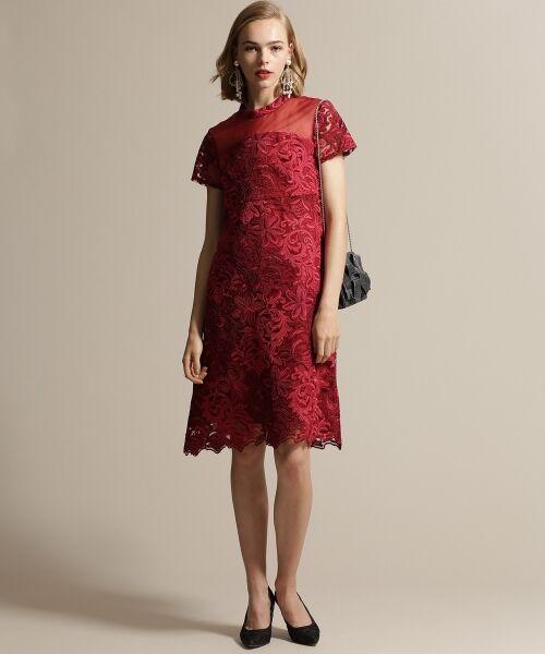 GRACE CONTINENTAL / グレースコンチネンタル ドレス | チュール刺繍フレアワンピース | 詳細2