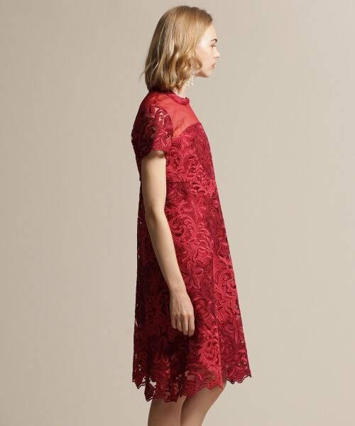 GRACE CONTINENTAL / グレースコンチネンタル ドレス | チュール刺繍フレアワンピース | 詳細3