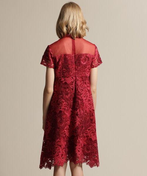 GRACE CONTINENTAL / グレースコンチネンタル ドレス | チュール刺繍フレアワンピース | 詳細4