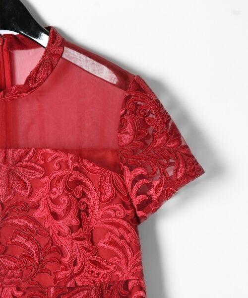 GRACE CONTINENTAL / グレースコンチネンタル ドレス | チュール刺繍フレアワンピース | 詳細5