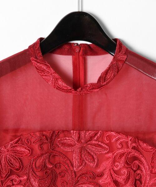 GRACE CONTINENTAL / グレースコンチネンタル ドレス | チュール刺繍フレアワンピース | 詳細7