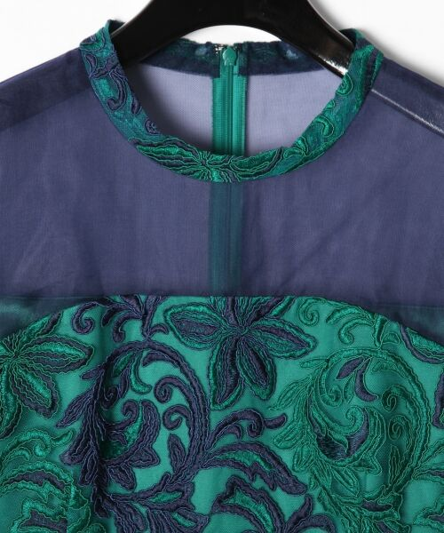 GRACE CONTINENTAL / グレースコンチネンタル ドレス | チュール刺繍フレアワンピース | 詳細12