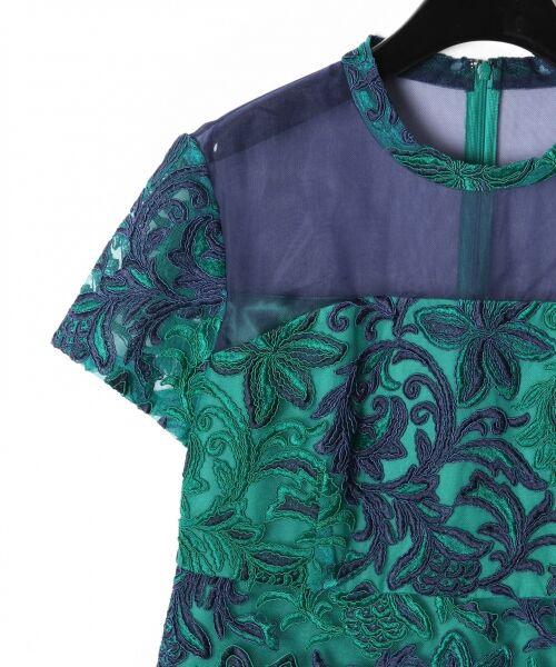 GRACE CONTINENTAL / グレースコンチネンタル ドレス | チュール刺繍フレアワンピース | 詳細13