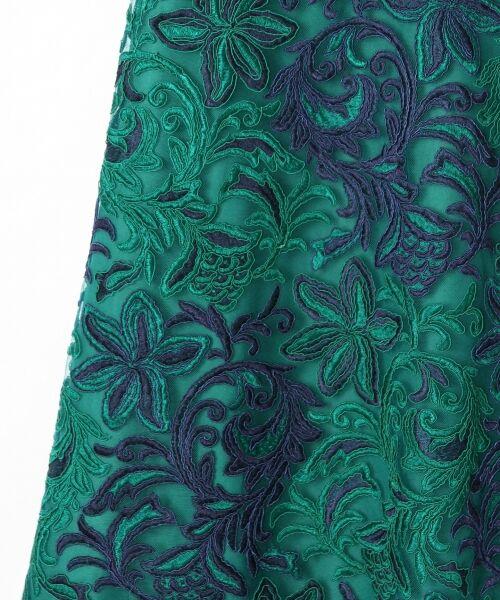 GRACE CONTINENTAL / グレースコンチネンタル ドレス | チュール刺繍フレアワンピース | 詳細15