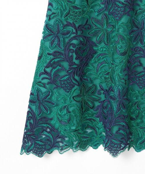 GRACE CONTINENTAL / グレースコンチネンタル ドレス | チュール刺繍フレアワンピース | 詳細16