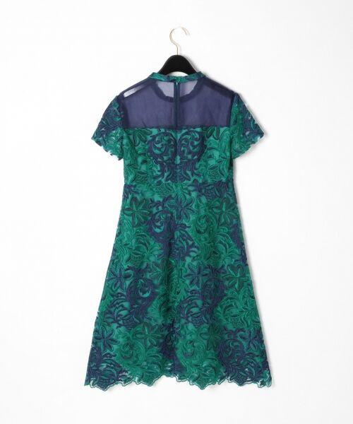 GRACE CONTINENTAL / グレースコンチネンタル ドレス | チュール刺繍フレアワンピース | 詳細17