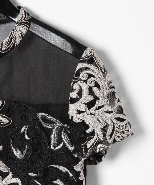 GRACE CONTINENTAL / グレースコンチネンタル ドレス | チュール刺繍フレアワンピース | 詳細20
