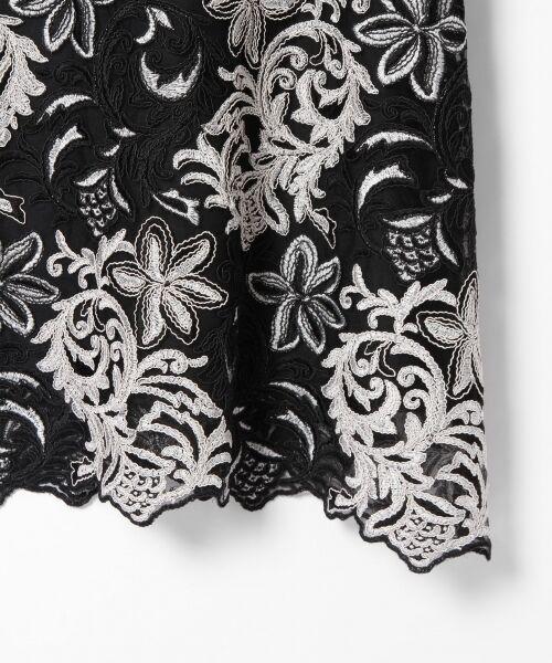 GRACE CONTINENTAL / グレースコンチネンタル ドレス | チュール刺繍フレアワンピース | 詳細21