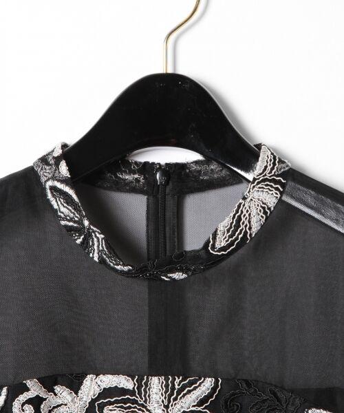 GRACE CONTINENTAL / グレースコンチネンタル ドレス | チュール刺繍フレアワンピース | 詳細22