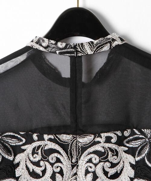 GRACE CONTINENTAL / グレースコンチネンタル ドレス | チュール刺繍フレアワンピース | 詳細25