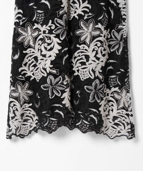 GRACE CONTINENTAL / グレースコンチネンタル ドレス | チュール刺繍フレアワンピース | 詳細26
