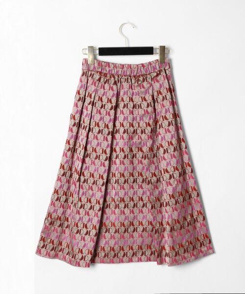 GRACE CONTINENTAL / グレースコンチネンタル ミニ・ひざ丈スカート | モノグラムジャガードスカート | 詳細8