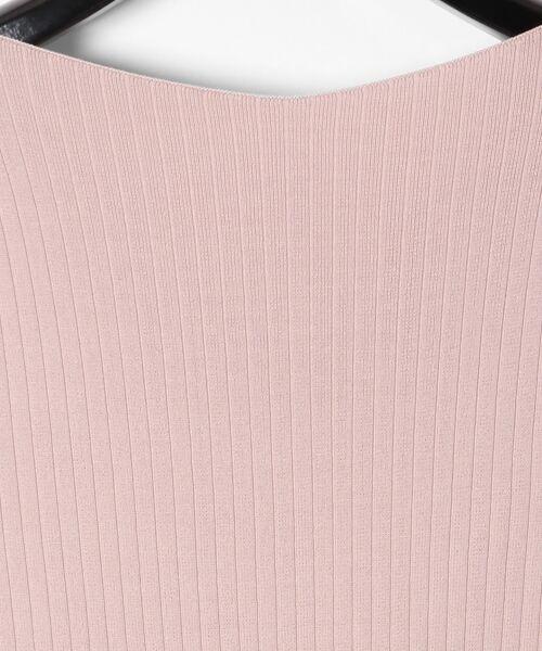 GRACE CONTINENTAL / グレースコンチネンタル ミニ丈・ひざ丈ワンピース | 配色プリーツニットワンピース | 詳細9
