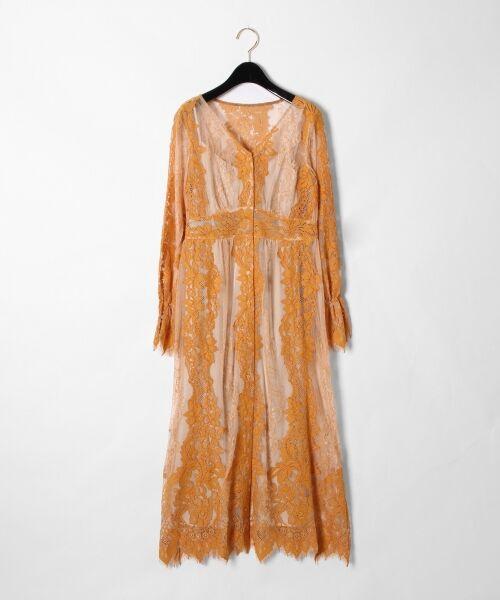 GRACE CONTINENTAL / グレースコンチネンタル ドレス | コードレースロングワンピース(ベージュ)