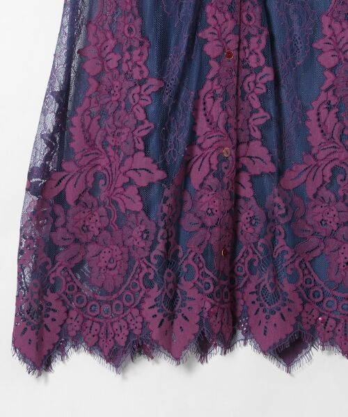 GRACE CONTINENTAL / グレースコンチネンタル ドレス | コードレースロングワンピース | 詳細7