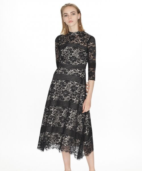 GRACE CONTINENTAL / グレースコンチネンタル ドレス | ハイネックレースワンピース | 詳細14