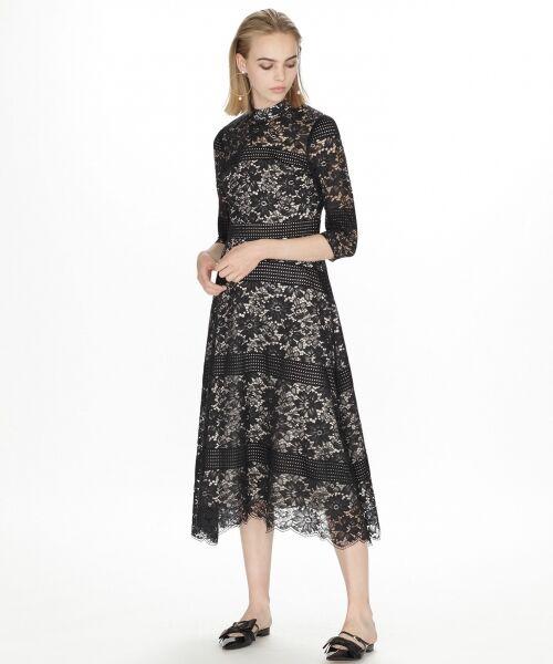 GRACE CONTINENTAL / グレースコンチネンタル ドレス | ハイネックレースワンピース | 詳細15