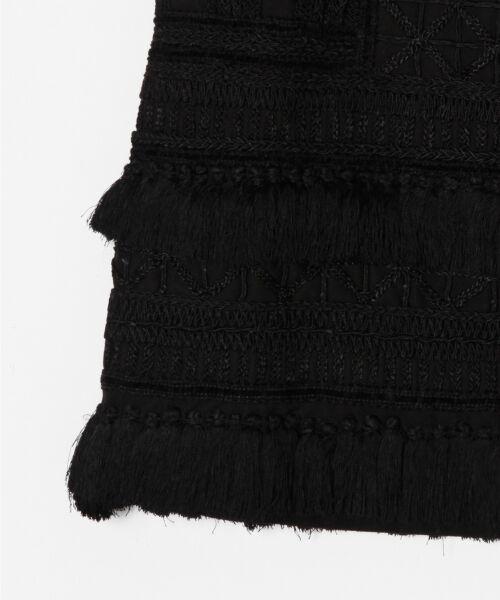 GRACE CONTINENTAL / グレースコンチネンタル ミニ・ひざ丈スカート | タッセル刺繍ミニスカート | 詳細2