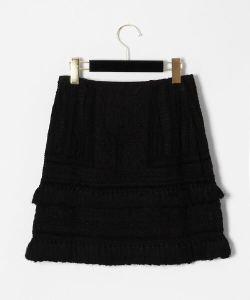 GRACE CONTINENTAL / グレースコンチネンタル ミニ・ひざ丈スカート | タッセル刺繍ミニスカート | 詳細3