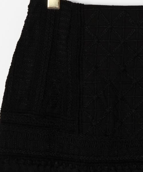 GRACE CONTINENTAL / グレースコンチネンタル ミニ・ひざ丈スカート | タッセル刺繍ミニスカート | 詳細4