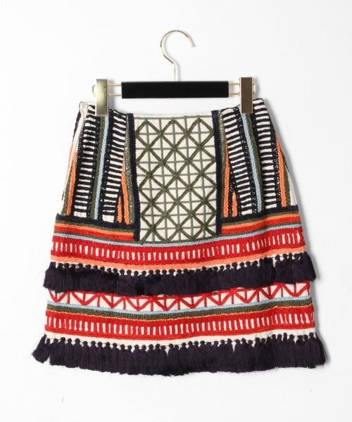 GRACE CONTINENTAL / グレースコンチネンタル ミニ・ひざ丈スカート | タッセル刺繍ミニスカート | 詳細7