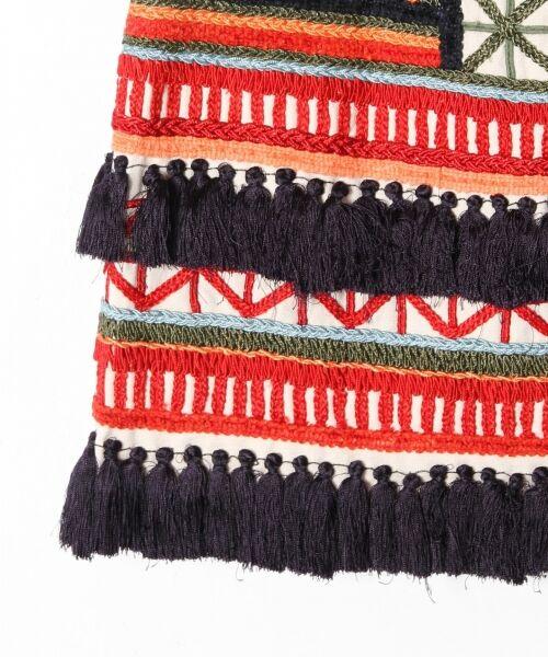 GRACE CONTINENTAL / グレースコンチネンタル ミニ・ひざ丈スカート | タッセル刺繍ミニスカート | 詳細8