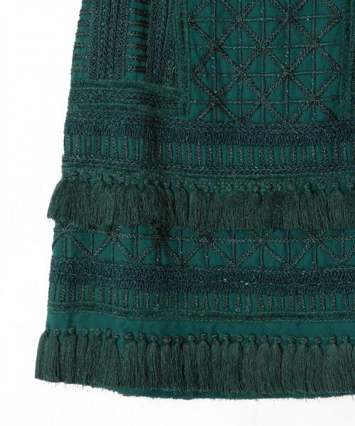 GRACE CONTINENTAL / グレースコンチネンタル ミニ・ひざ丈スカート | タッセル刺繍ミニスカート | 詳細10