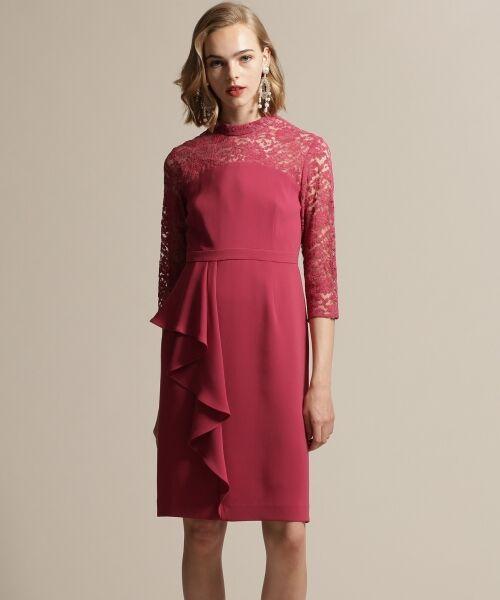 GRACE CONTINENTAL / グレースコンチネンタル ドレス | ペプラムドレープワンピース | 詳細1