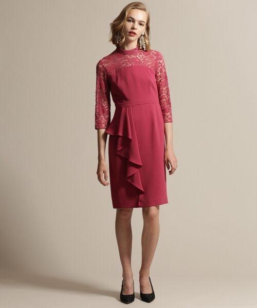 GRACE CONTINENTAL / グレースコンチネンタル ドレス | ペプラムドレープワンピース | 詳細2