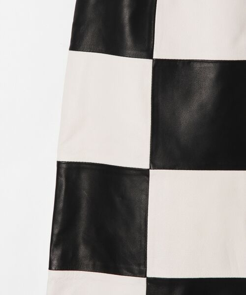 GRACE CONTINENTAL / グレースコンチネンタル ミニ・ひざ丈スカート | 市松レザースカート | 詳細7