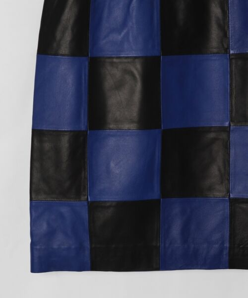 GRACE CONTINENTAL / グレースコンチネンタル ミニ・ひざ丈スカート | 市松レザースカート | 詳細11