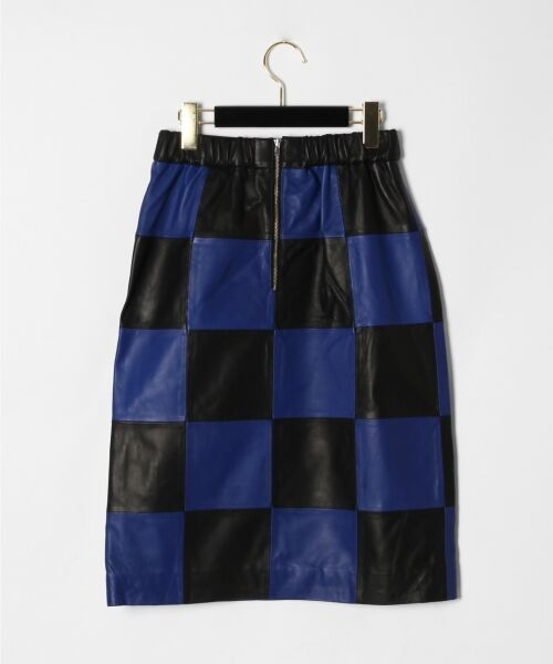 GRACE CONTINENTAL / グレースコンチネンタル ミニ・ひざ丈スカート | 市松レザースカート | 詳細12
