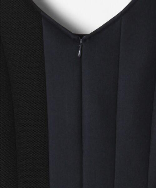 GRACE CONTINENTAL / グレースコンチネンタル ミニ丈・ひざ丈ワンピース   ボンディング切替ドレス   詳細5