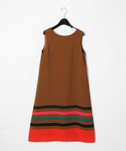 GRACE CONTINENTAL / グレースコンチネンタル ドレス | ヘムラインフレアワンピース(ブラウン)