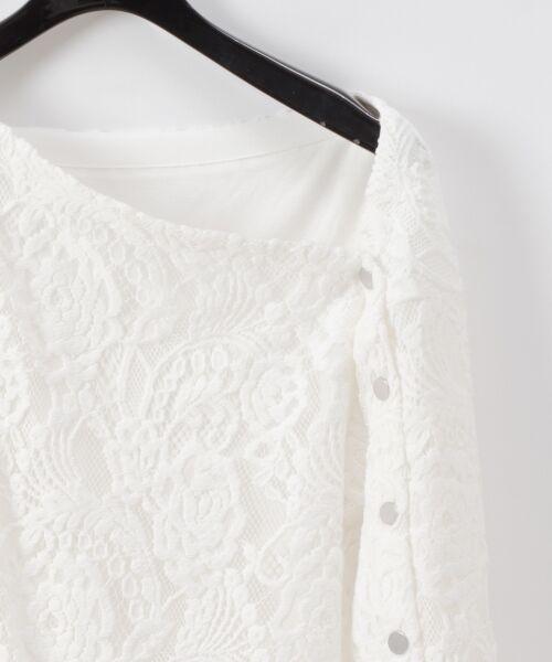 GRACE CONTINENTAL / グレースコンチネンタル Tシャツ   ワンショルレーストップ   詳細3