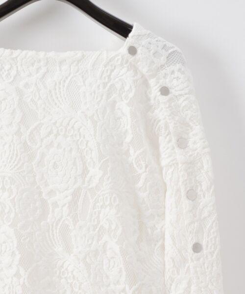 GRACE CONTINENTAL / グレースコンチネンタル Tシャツ   ワンショルレーストップ   詳細5