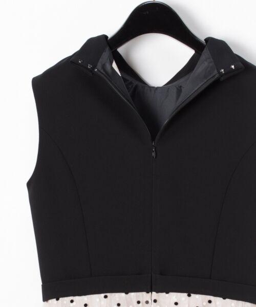 GRACE CONTINENTAL / グレースコンチネンタル ドレス | 配色ドットチュールドレス | 詳細2
