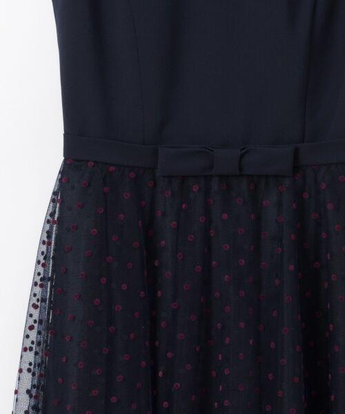 GRACE CONTINENTAL / グレースコンチネンタル ドレス | 配色ドットチュールドレス | 詳細4