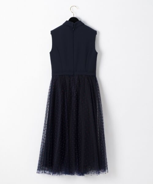 GRACE CONTINENTAL / グレースコンチネンタル ドレス | 配色ドットチュールドレス | 詳細6