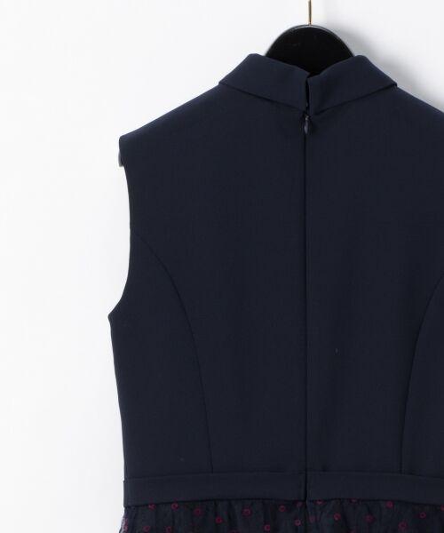 GRACE CONTINENTAL / グレースコンチネンタル ドレス | 配色ドットチュールドレス | 詳細7