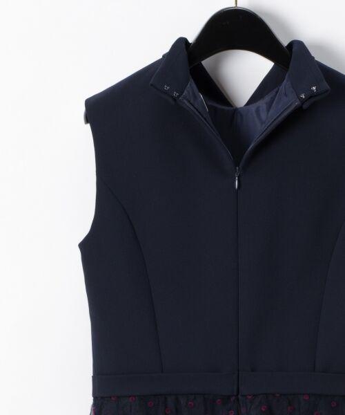 GRACE CONTINENTAL / グレースコンチネンタル ドレス | 配色ドットチュールドレス | 詳細8