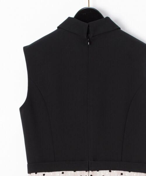GRACE CONTINENTAL / グレースコンチネンタル ドレス | 配色ドットチュールドレス | 詳細1