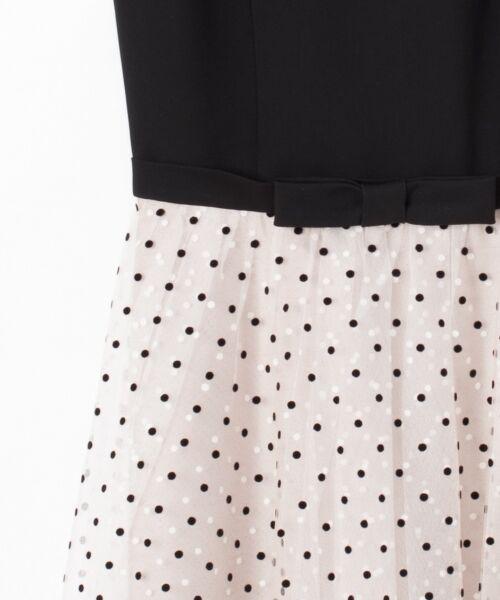 GRACE CONTINENTAL / グレースコンチネンタル ドレス | 配色ドットチュールドレス | 詳細14